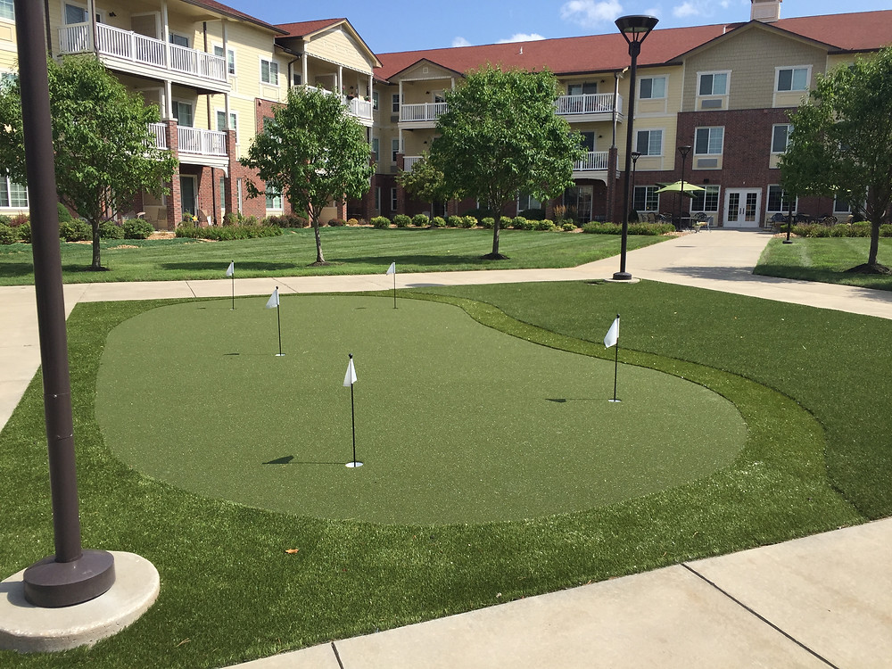 Senior Living Center - putting green
