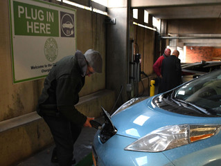 Clean fleets: Auburn celebrates new vehicle charging station in downtown parking garage