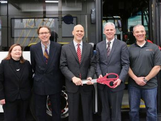 BROOME COUNTY UNVEILS NEW ELECTRIC HYBRID BUSES