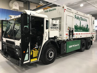 Mack Trucks shows off electric garbage truck, due to hit New York City streets later this year