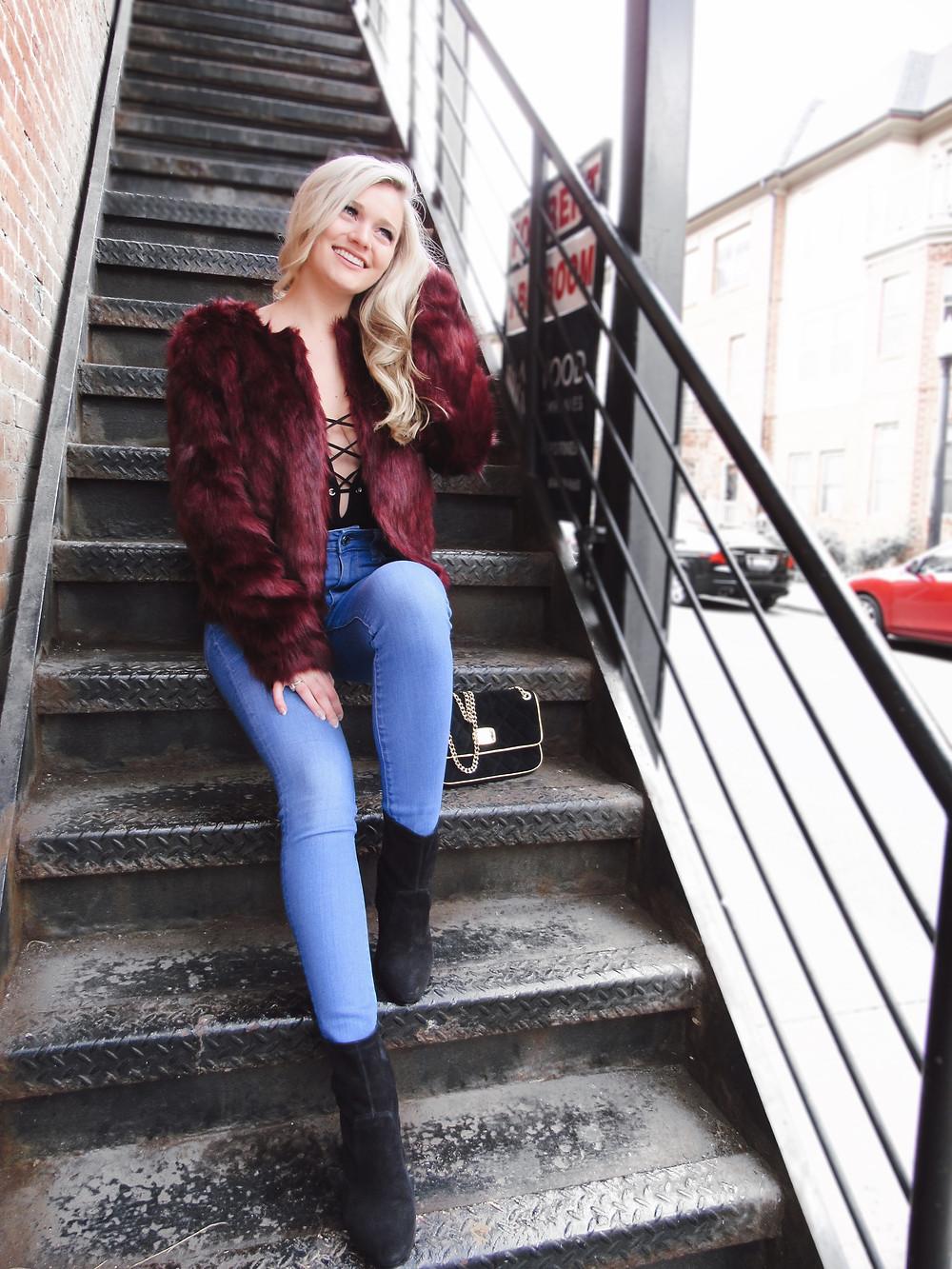 Holiday Faux Fur Caitlin Eliza
