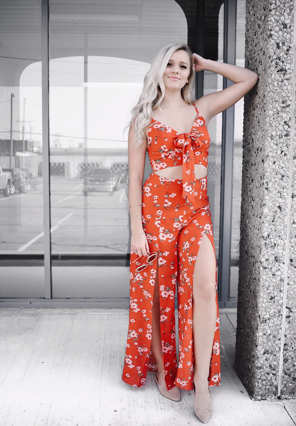 Red Outfit from Honeybum Styled by Caitlin Eliza