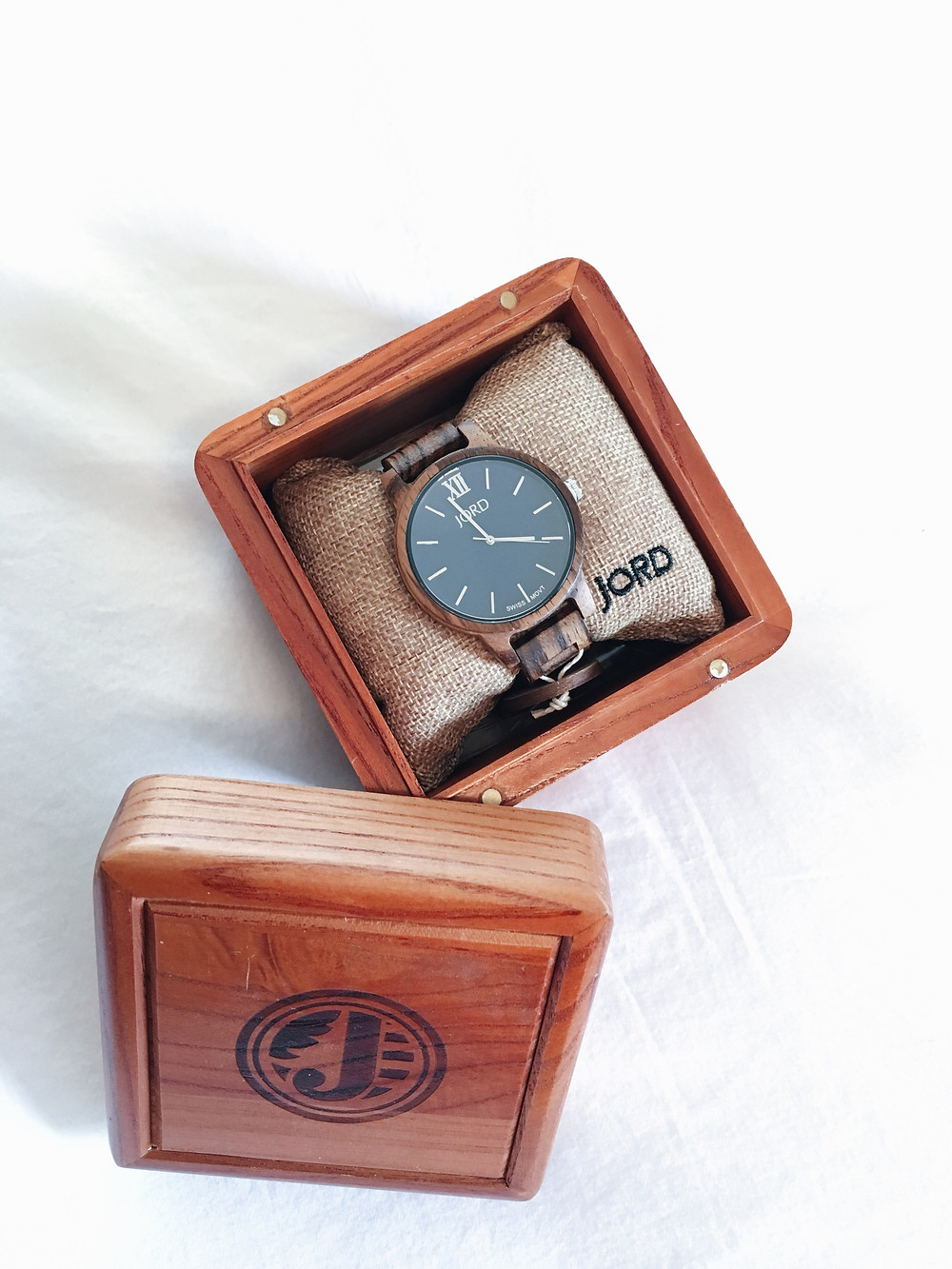 JORD Wood Watch in packaging