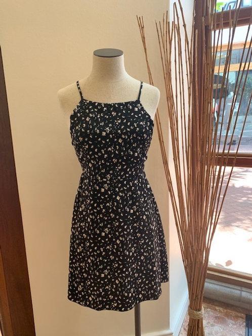Square Neck Floral Print Dress
