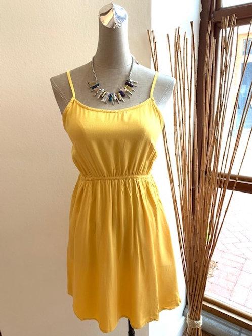 Knit Yellow Mini Dress