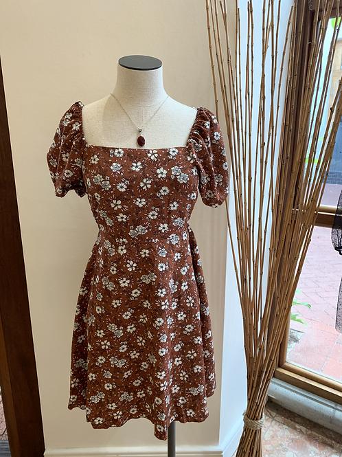 Brick mini dress