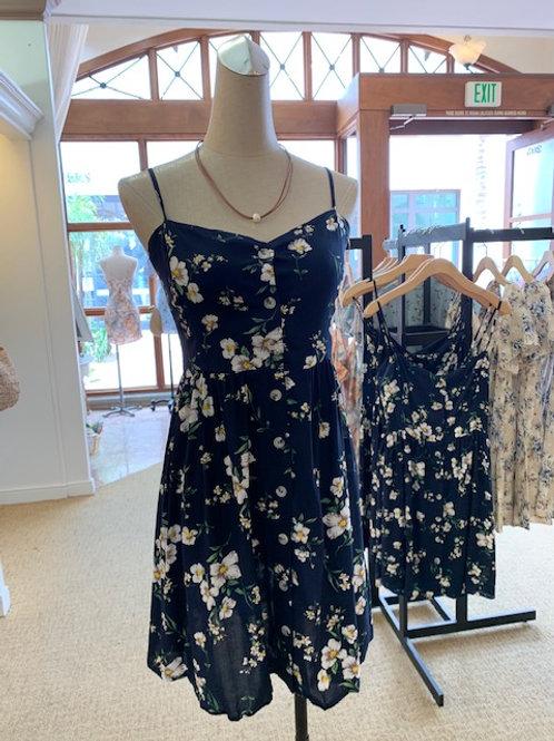 Floral Navy mini dress