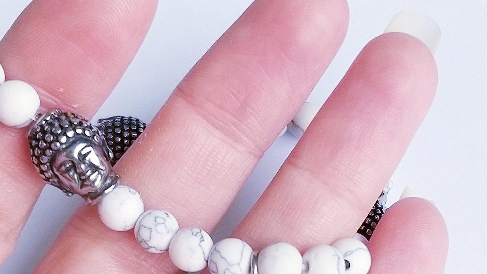 Bracelet Howlite buddha
