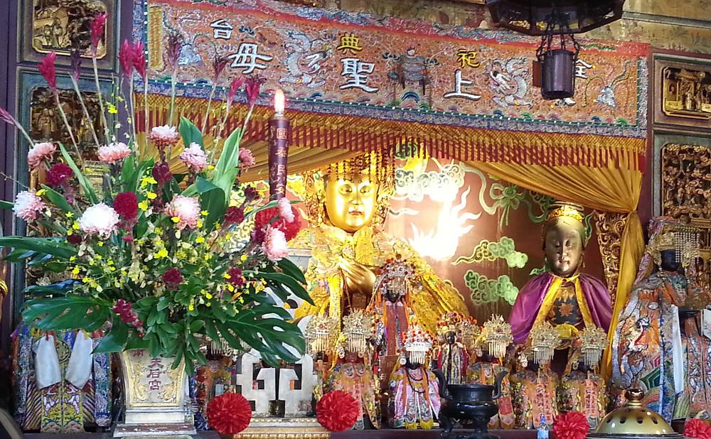 Effigy of Mazu in the Grand Matsu Temple