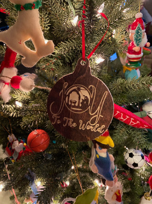 Joy to the World Christmas Ornament