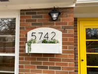 House Numbers and Planter Box