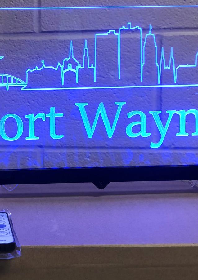 Fort Wayne Skyline on stand