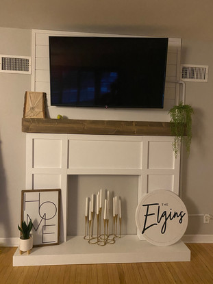Mantle and Faux Fireplace