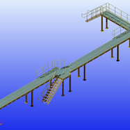 Large Platform with Stairs & Railings 2.