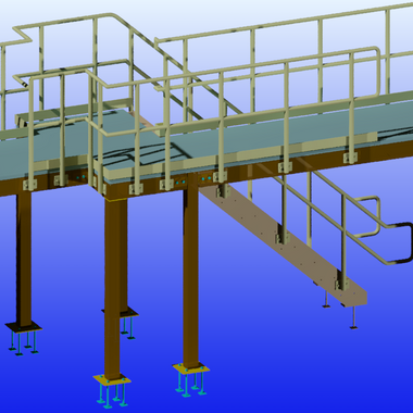 Large Platform with Stairs & Railings 5.