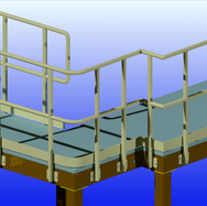Large Platform with Stairs & Railings 1.