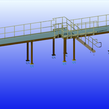 Large Platform with Stairs & Railings 4.