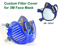 3D Printed Filter Covers for 3M Face Mask - Model 06941