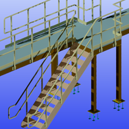 Large Platform with Stairs & Railings 3.