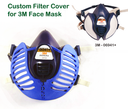 3D Printed Filter Covers for 3M Face Mask - Model 06941+