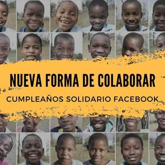 Cumpleaños solidario Facebook