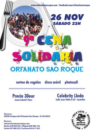La 9ª Cena Solidaria ya tiene fecha... 26-N