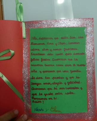 Precioso detalle de parte del Colegio Sacre Coeur de Annonay