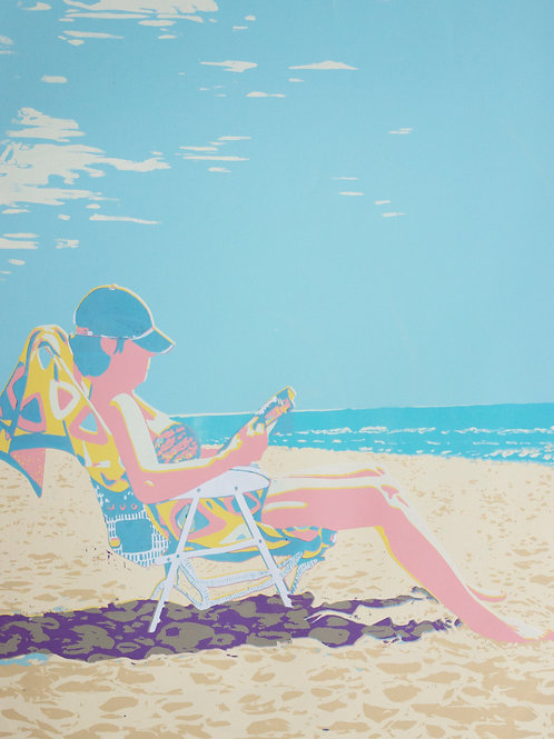 Limited Edition Silkscreen Print 'Beach Dweller'