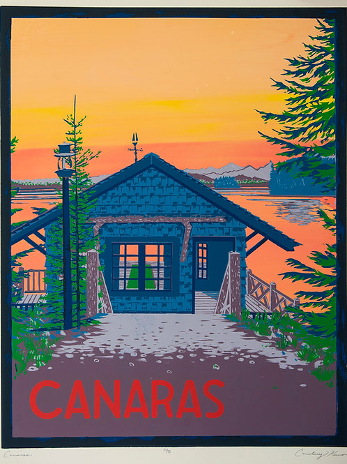 Limited Edition Canaras Silkscreen Print- Only 8 Left!