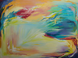Abstact oil painting on canvas