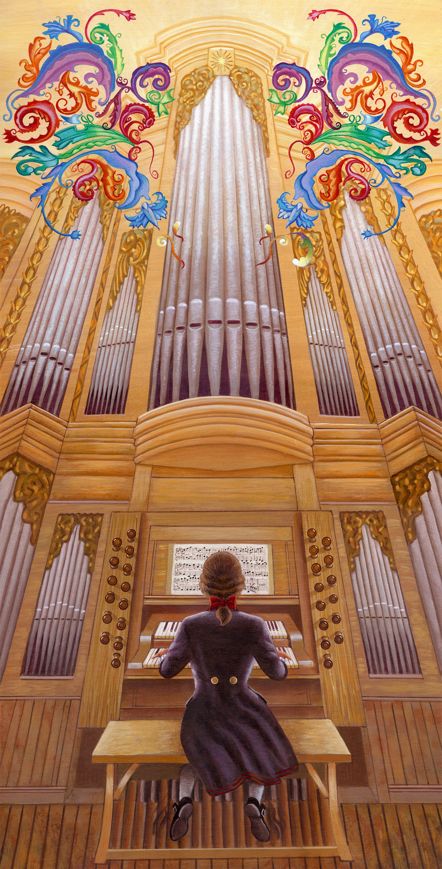 Bach at organ