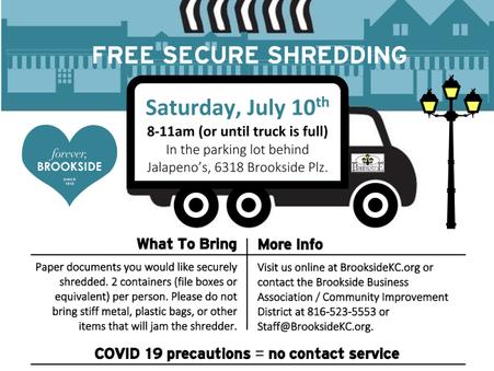 JULY 10 - Brookside Shred Event
