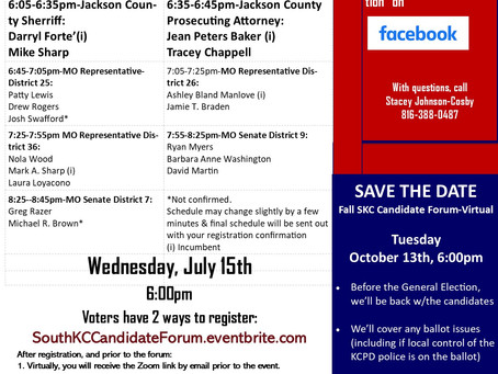 South Kansas City Virtual Candidate Forum