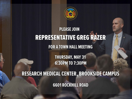 Missouri State Representative Greg Razer to hold Town Hall