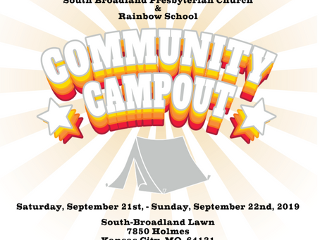 Community Campout at South-Broadland Church September 21st