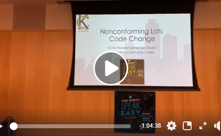 [VIDEO] KCMO Planning Department explains proposed changes to codes regarding non-conforming lots.
