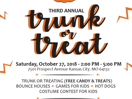 Trunk or Treat on October 27th