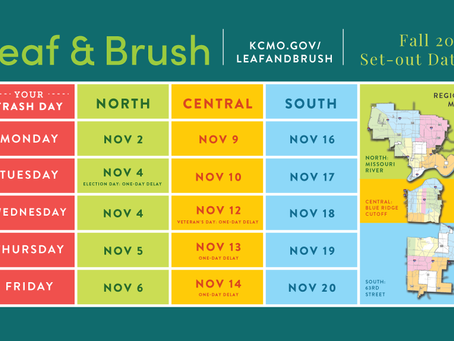 Election Day changes to leaf & brush pickup; holiday trash schedule changes for Veterans Day