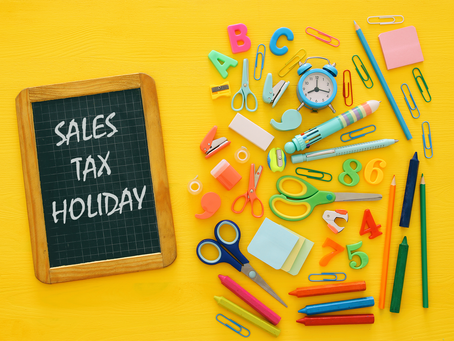 AUG 3-5 Sales Tax Holiday Weekend