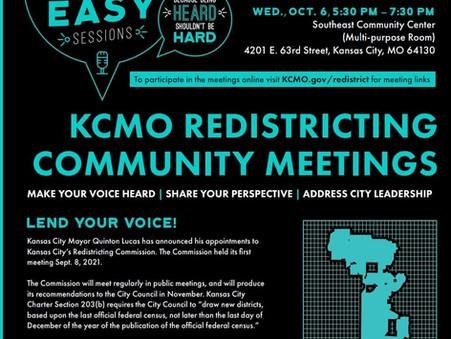 Kansas City Redistricting Commission Announces Community Feedback Meetings