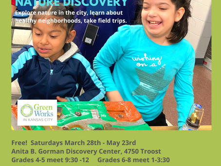 ECOS Urban Outdoor Nature Discovery for Youth 4th - 8th Grades