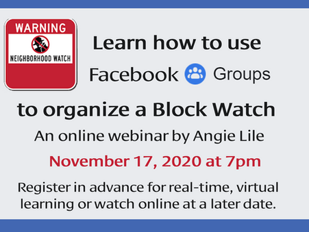 NOV 17 - Block Watch Webinar