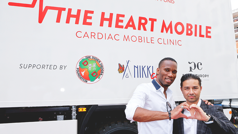 The Heart Mobile® — The Heart Fund and Didier Drogba Fondation inaugurate the first mobile cardiolog