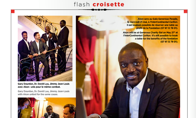 Cannes Festival 2014 — GALA CROISETTE interviews AKON, ambassador of The Heart Fund
