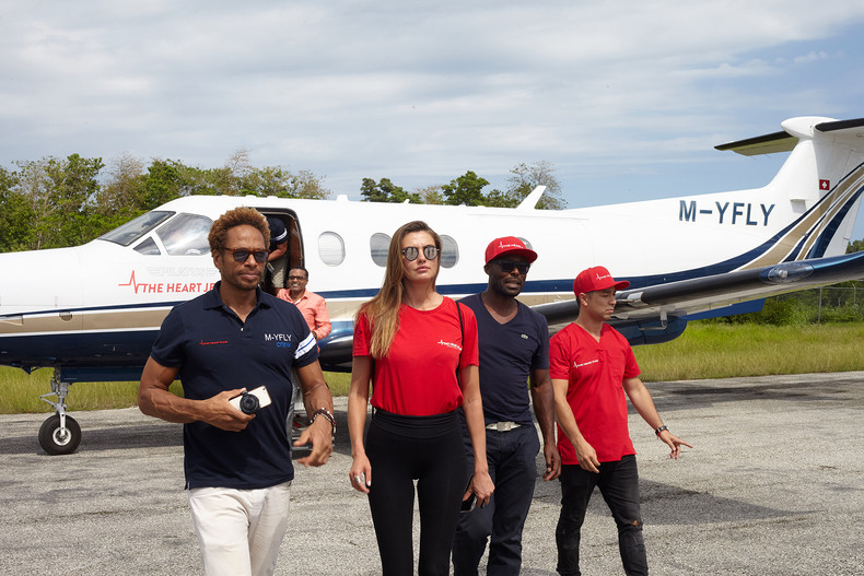 The Heart Jet® Haiti mission 2017 — The Heart Fund team inaugurates the first flying cardiology clin