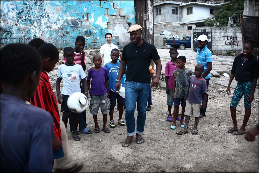 The Heart Fund - Ambassador Jimmy Jean-Louis and children Haiti