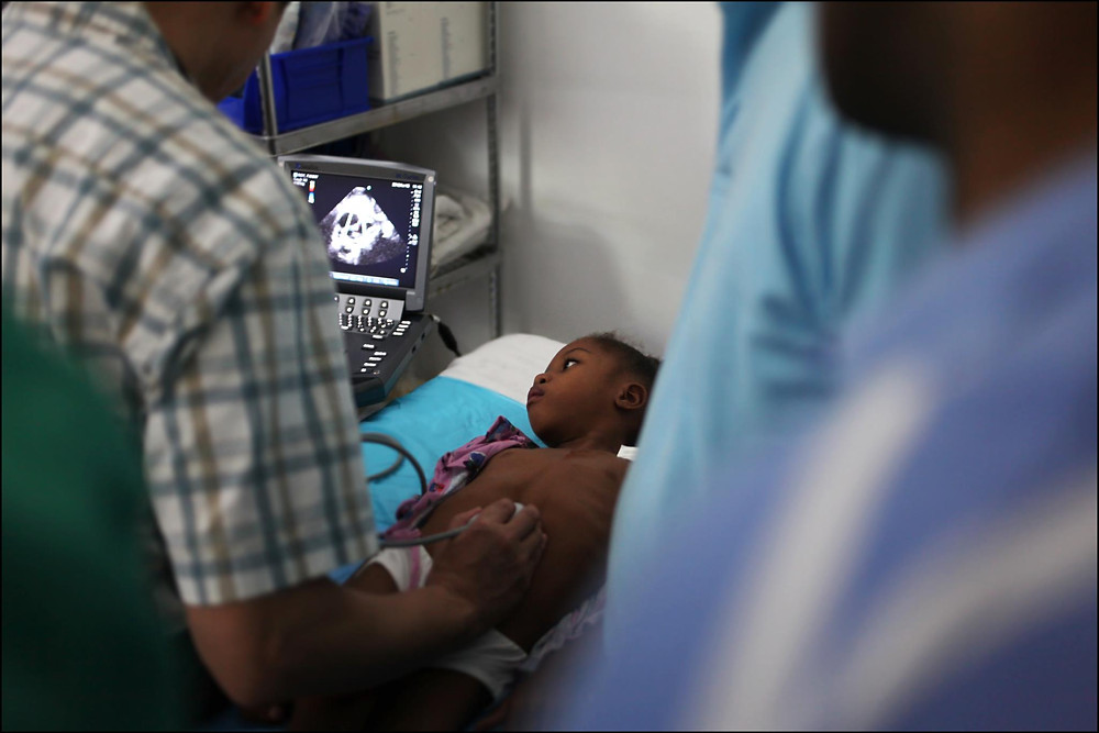 The Heart Fund - Haiti hospital - children with heart defects
