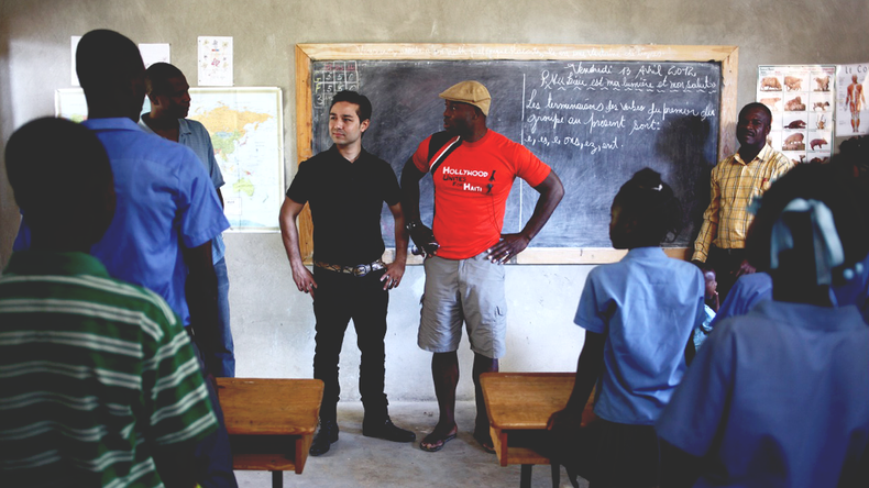 Prevention program in Haiti — Education on heart disease among children in a school created by Jimmy