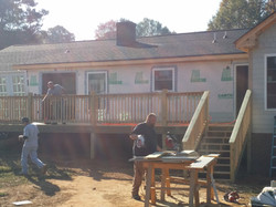 back deck being added