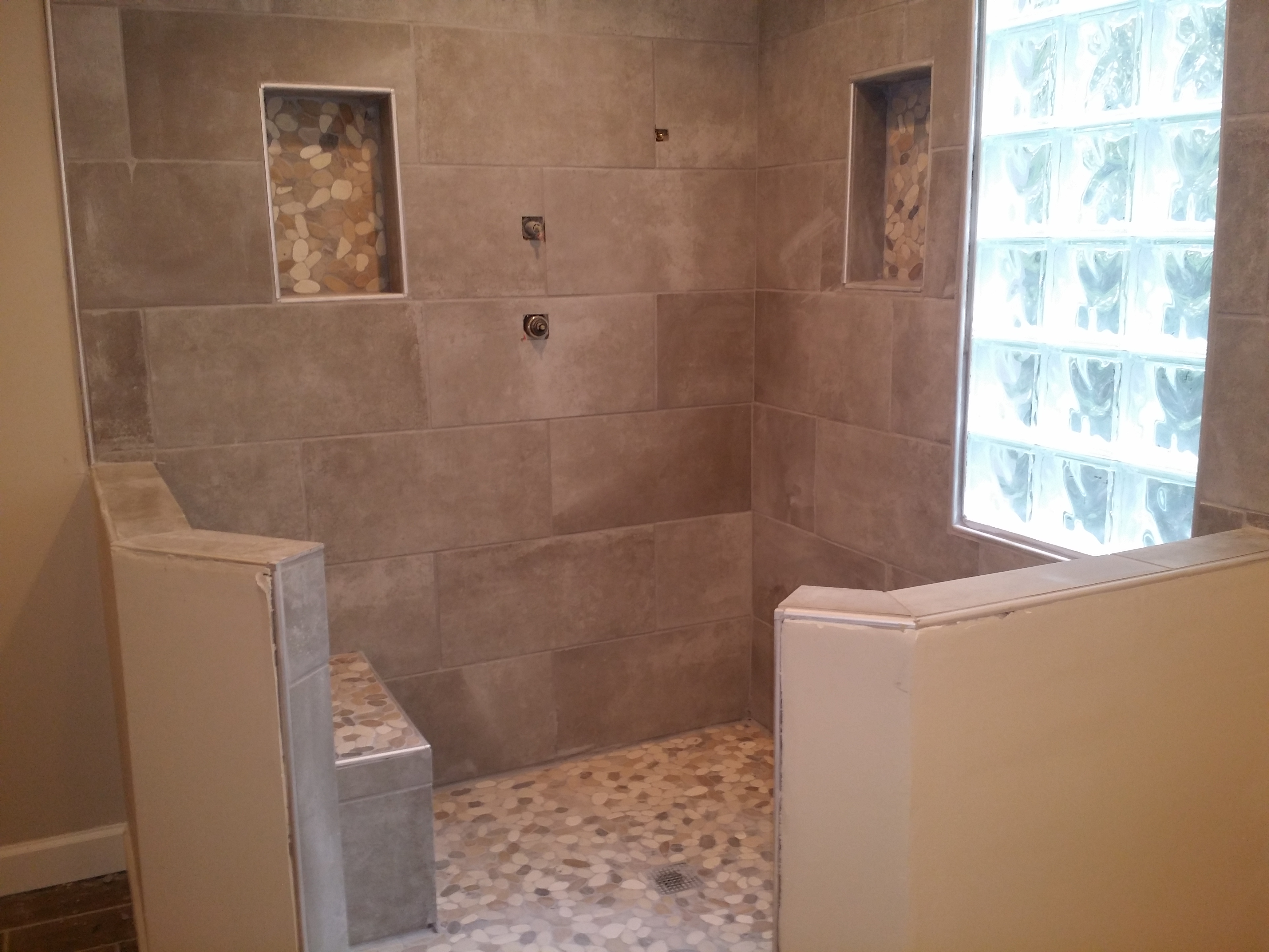 Shower buildout